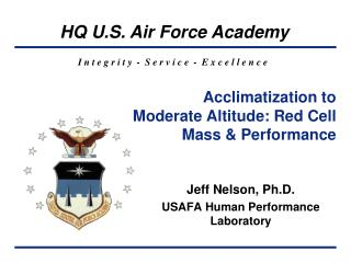 Acclimatization to Moderate Altitude: Red Cell Mass & Performance