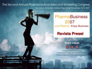 Pharma Business 20 07 Just Pharma |  Enjoy Business Revista Presei