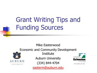 Grant Writing Tips and Funding Sources