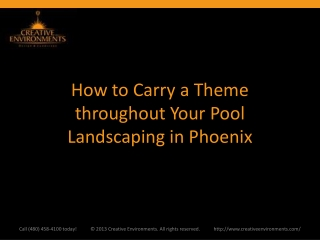 How to Carry a Theme throughout Your Pool Landscaping in Pho
