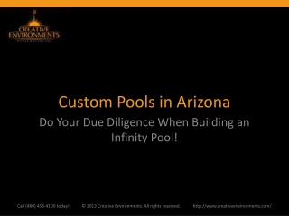Custom Pools in Arizona: Do Your Due Diligence When Building