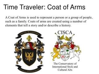 Time Traveler: Coat of Arms