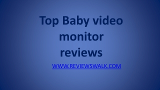 best video baby monitor reviews 2013