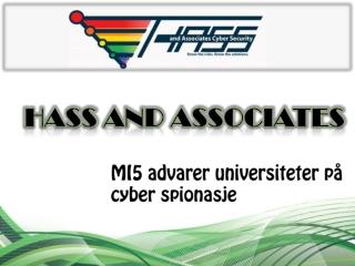 MI5 advarer universiteter på cyber spionasje-Youtube