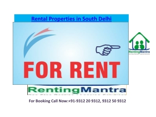 Flats for Rent South Delhi