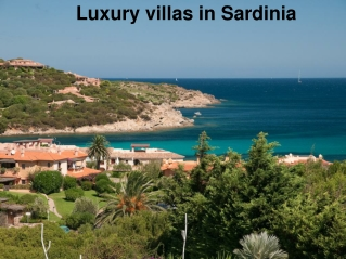 Luxury villas in Sardinia