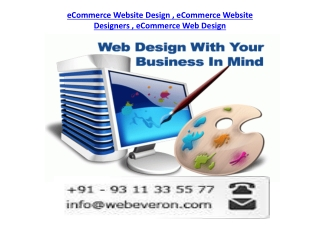 Ecommerce Web Design India