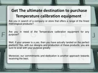Precision Thermometers, Temperature Calibration Equipment