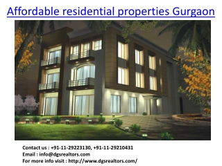 Affordable Residential Properties Gurgaon