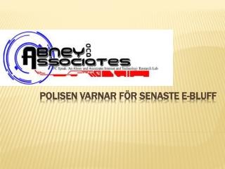 Abney and Associates Online säkerhetsvarning: Polisen Varnar