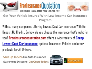 Auto Insurance For Low Income Families