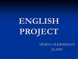 ENGLISH PROJECT