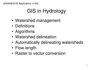 GIS in Hydrology