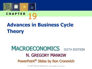 Advances in Business Cycle Theory