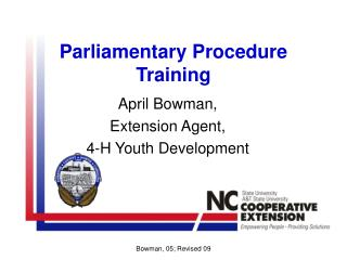 Parliamentary Procedure Training