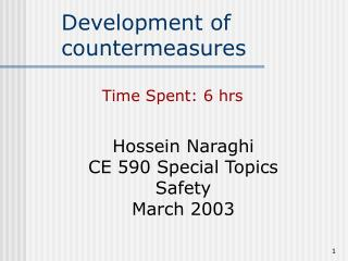 Development of countermeasures