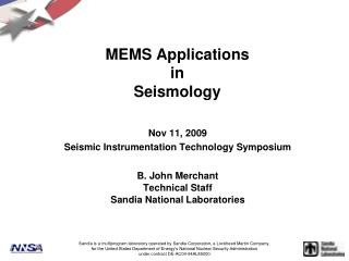 MEMS Applications in Seismology