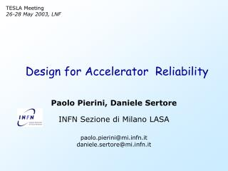Design for Accelerator  Reliability