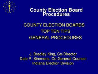 County Election Board Procedures