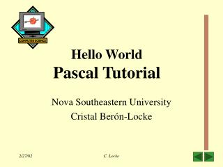 Hello World Pascal Tutorial