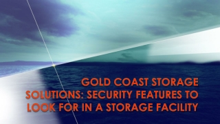 Gold Coast Storage Solutions: Security Features