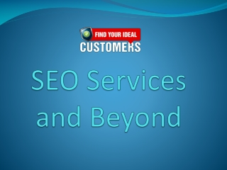 SEO Services and Beyond