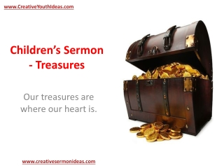 Children's Sermon - Treasures
