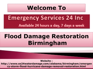Flood Damage Restoration Birmingham