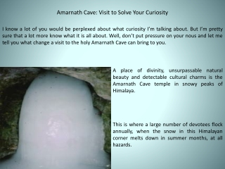 Amarnath Cave: Visit to Solve Your Curiosity