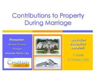 Contributions to Property During Marriage