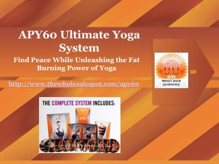 apy60 - the ultimate home yoga system