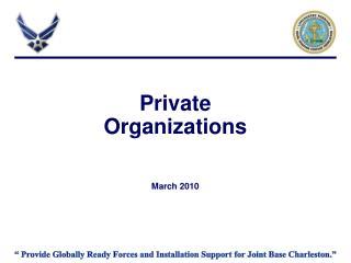 Private Organizations March 2010