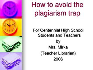How to avoid the plagiarism trap