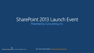 SharePoint 2013 Launch Event