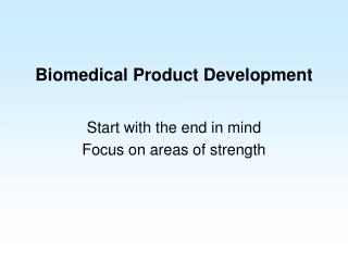 Biomedical Product Development