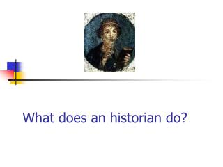 What does an historian do?