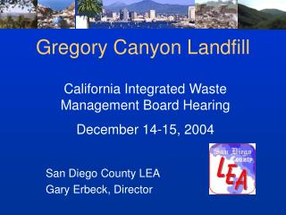 Gregory Canyon Landfill