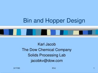 Bin and Hopper Design