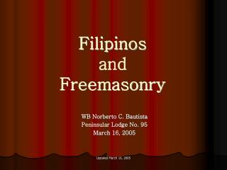 Filipinos and Freemasonry
