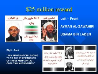 $25 million reward