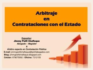 ARBITRAJE CONTRATACIONES CON EL ESTADO JIMMY PISFIL CH.