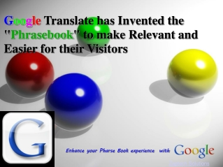"""Google Translate has Invented the """"Phrasebook"""" for their Vis"""