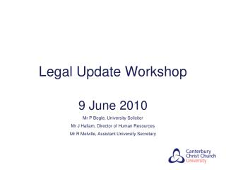 Legal Update Workshop