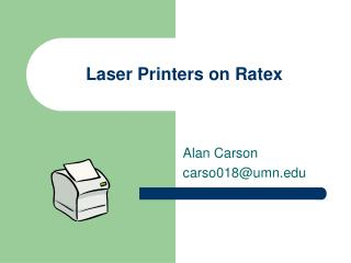 Laser Printers on Ratex