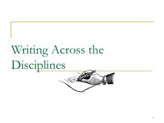 Writing Across the Disciplines