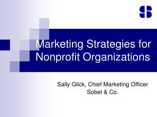 Marketing Strategies for Nonprofit Organizations