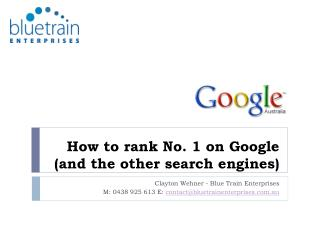 how to rank no. 1 on google and the other search engines