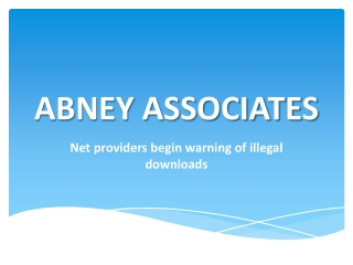 Net providers begin warning of illegal downloads