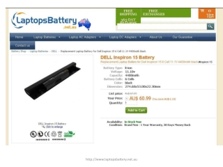 Amazing Qualities of a Dell Inspiron 15 Battery