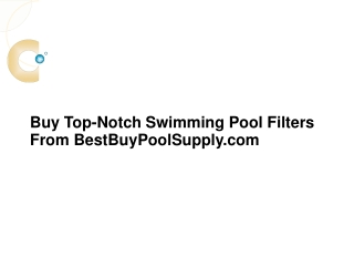 Buy Top-Notch Swimming Pool Filters From BestBuyPoolSupply.c
